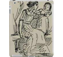 Kate Greenaway Collection 1905 0466 On a Letter to Ruskin iPad Case/Skin