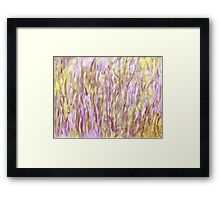 Reeds in the river 3 Framed Print