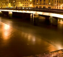 Little night panoramic of a stone bridge by shkyo30