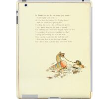 Old Proverbs with New Pictures Lizzie Laweson and Clara Mateaux 1881 0032 Sir Toadie Lies Low Horse Water iPad Case/Skin