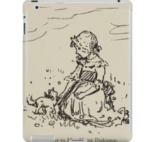 Kate Greenaway Collection 1905 0145 On a Letter to Miss Violet Disckenson iPad Case/Skin