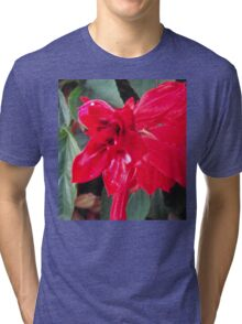 Right Red Flower Tri-blend T-Shirt