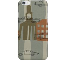 1950s Car Pattern - Version No.2 - single tile iPhone Case/Skin