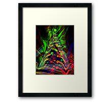 Abstract Christmas Tree Framed Print