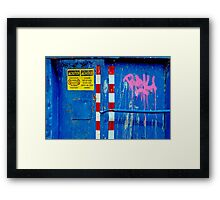 CAUTION! Do Not Play In Color. Framed Print