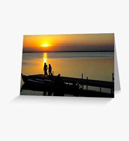 "Sunset in ""L'Albufera"" II Greeting Card"