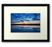 Clouds on the Water © Framed Print