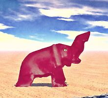 Desert Elephant Quest For Water by morningdance