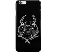 Deer (White) iPhone Case/Skin