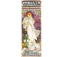 Alfons Mucha The lady of the camellias Photographic Print
