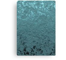 Grunge Relief Floral Abstract Canvas Print