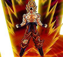 Goku Super Saiyan by dumbosaur