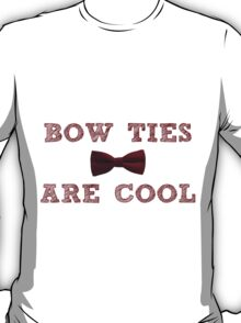 Doctor Who - Bow Ties are cool #1 T-Shirt