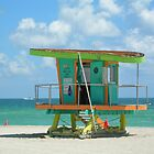 South Beach Lifeguard Hut by Pamela McCreight