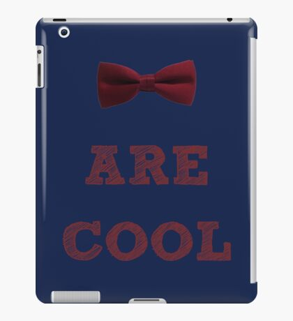Doctor Who - Bow Ties are cool #2 iPad Case/Skin