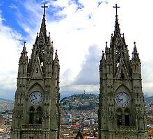 Virgen de El Panecillo and Basilica del Voto Nacional by Al Bourassa