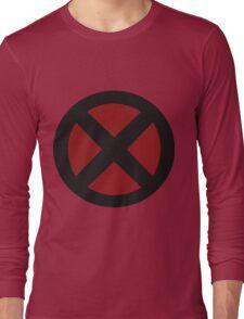 black/red X-men logo Long Sleeve T-Shirt