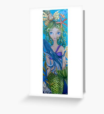 """Underwater Mermaid"" by Jaz Greeting Card"