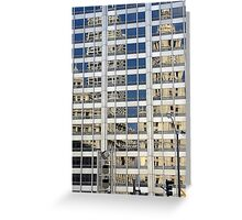 Building reflections Greeting Card