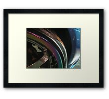 multi-colored wheel Framed Print