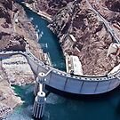 Hoover Dam By Helicopter by Leslie  Hagen