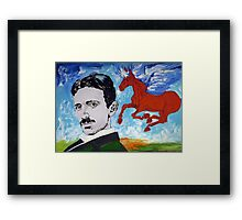 Tesla Knows Framed Print