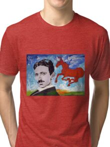 Tesla Knows Tri-blend T-Shirt