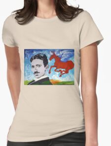 Tesla Knows Womens Fitted T-Shirt