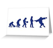 Lebowski Evolution Greeting Card
