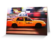 New York City Taxi Greeting Card