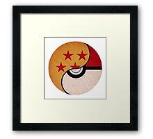 Dragonball pokeball Framed Print