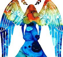 Guardian Angel - Spiritual Art Paitning by Sharon Cummings