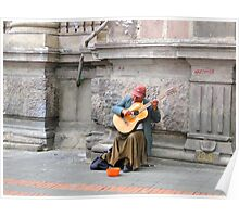 Quito Street Musician Poster