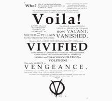 V For Vendetta Pentalogue Kids Clothes