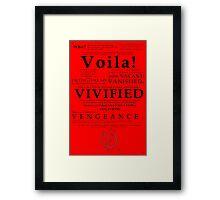 V For Vendetta Pentalogue Framed Print