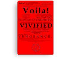V For Vendetta Pentalogue Canvas Print