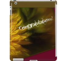 Congratulations! iPad Case/Skin