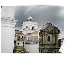 Quito, Ecuador Cathedral Domes Poster