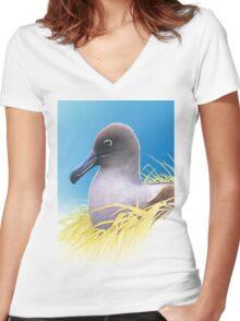 light mantled sooty albatross Women's Fitted V-Neck T-Shirt