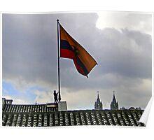 Quito, Ecuador Flag Lowering Poster