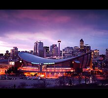 Calgary Sunset (Bordered) by Chad Kruger