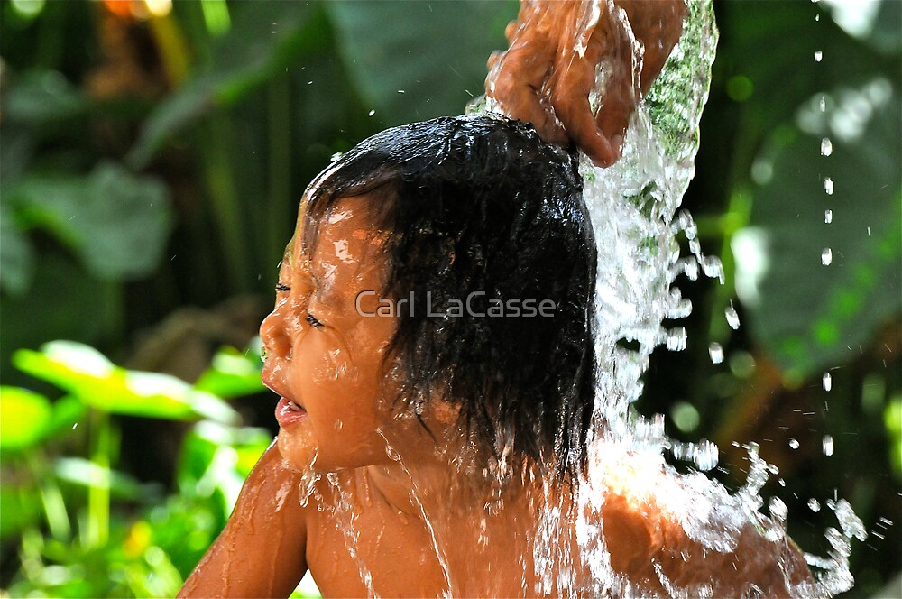 Bath time in Mindanao #2 by Carl LaCasse