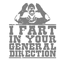 I Fart In Your General Direction T Shirts, Stickers and Other Gifts Monty Python's Photographic Print
