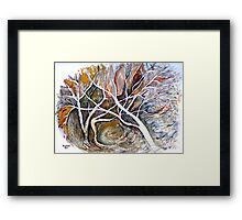 Without friends... Framed Print