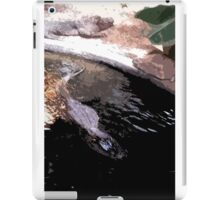 Gator swimming and sunning iPad Case/Skin