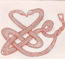 Celtic love snakes by SnakeArtist