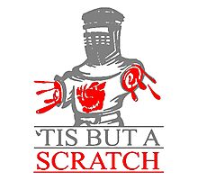 'Tis But A Scratch T Shirts, Stickers and Other Gifts Monty Python's Photographic Print