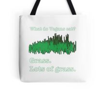 Vegans Eat Grass Tote Bag