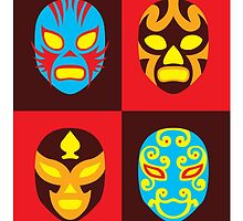 Mexican Wrestling Masks, Luchador by monsterplanet