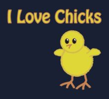 I Love Chicks Kids Tee